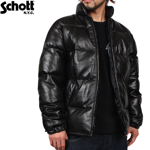 lambskin goose down bubble jacket