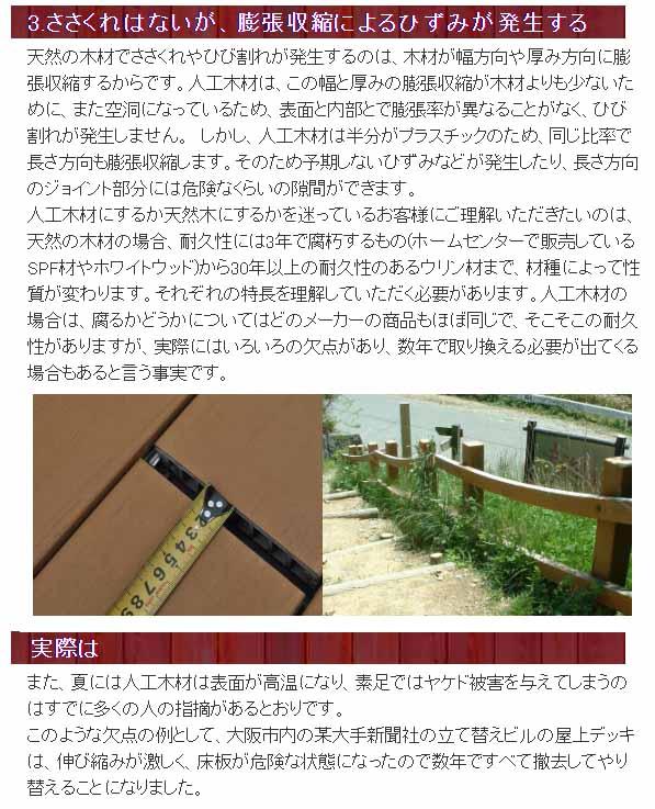 再生木材の欠点長所