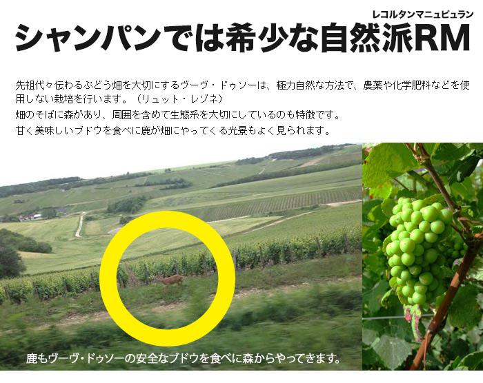 シャンパンでは珍しい自然派