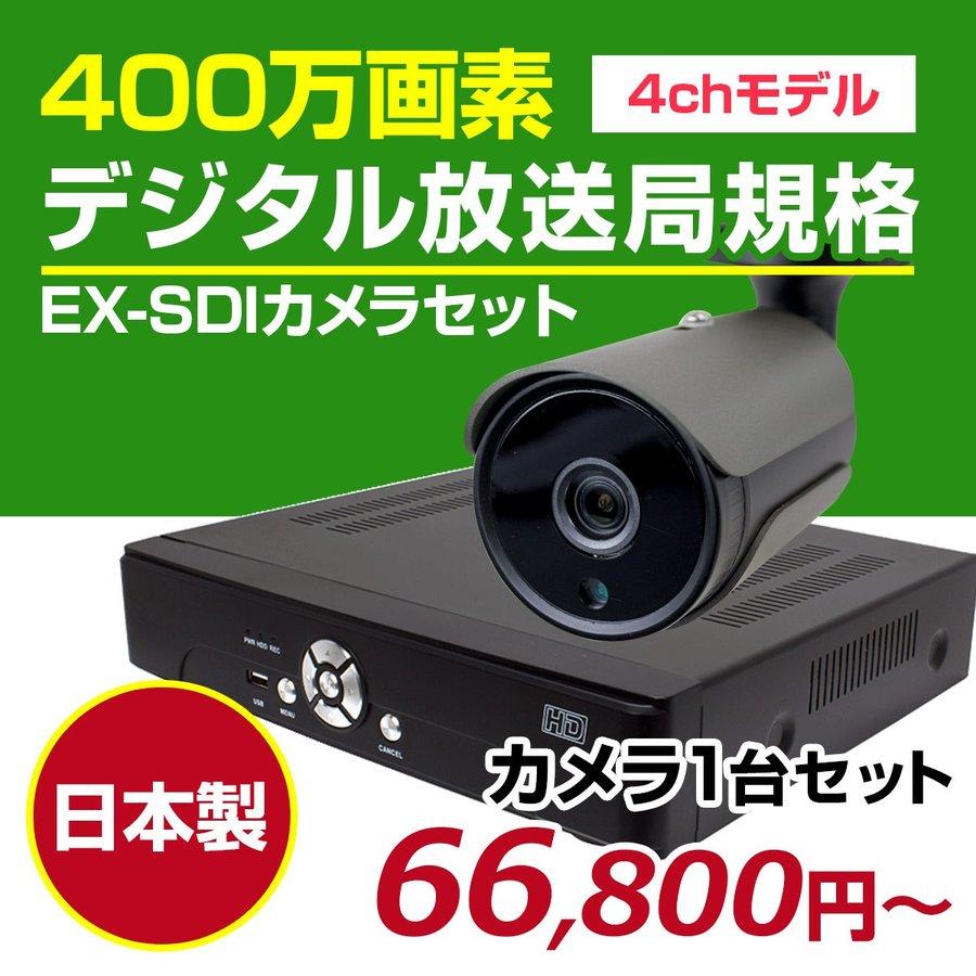 EX-SDIカメラ 4ch 800万画素 屋外 塚本無線