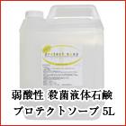 弱酸性 殺菌液体石鹸 プロテクトソープ 5L 無香料 肌に優しい低刺激、弱酸性 トリクロサン配合 手指・身体の殺菌・消毒 薬用ボディーソープ