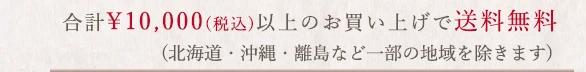 一部の地域除き一万円以上で送料無料