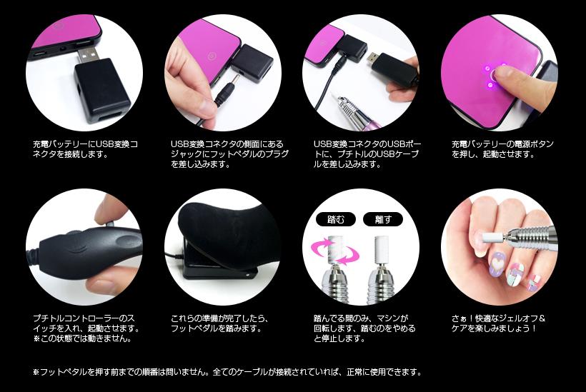 プチトル ケーブル USB ネイルマシン ネイルマシーン 綺麗堂