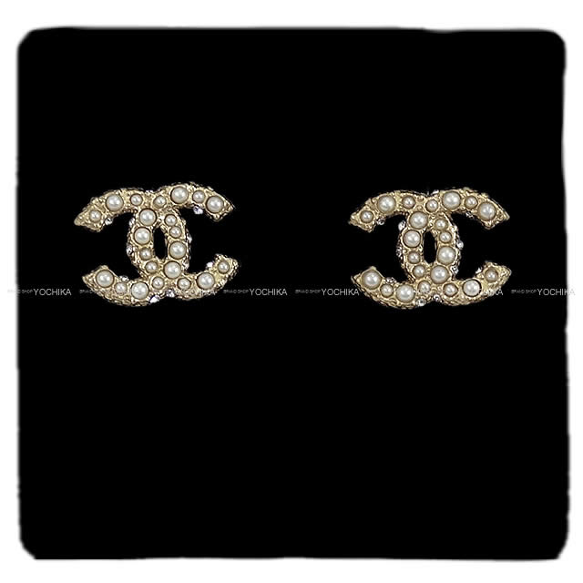 Chanel Pearl Gold Earrings Faux Pearl Earrings Gold