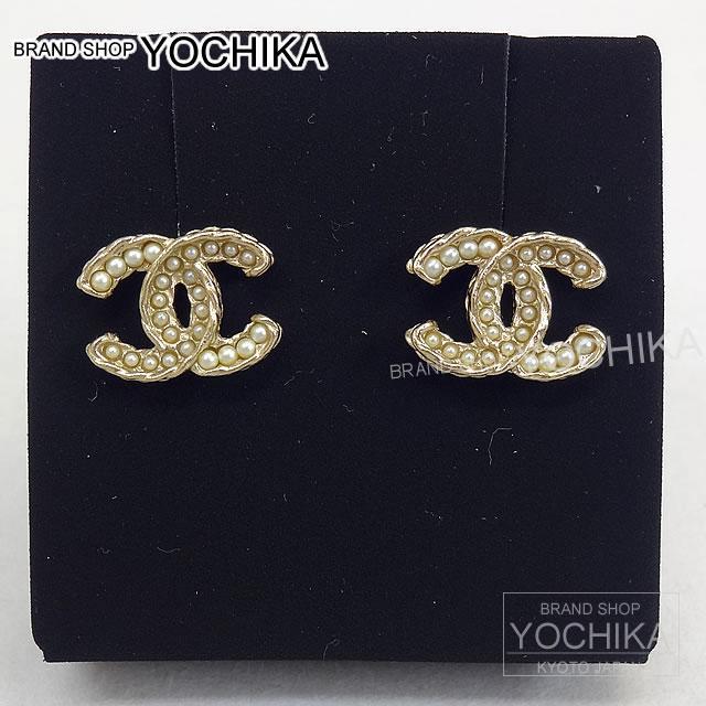Chanel Pearl Gold Earrings Twist Pearl Earrings Gold