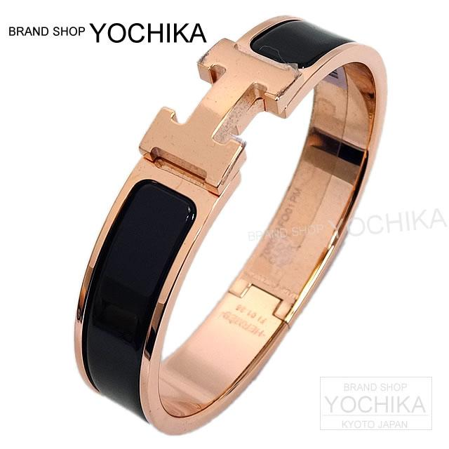 Hermes Click Ash Clic H Bracelets Pm Black X Rose Gold Bracket New Bracelet Moir Rosegold Yochika