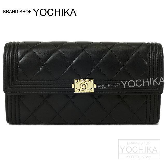 324e12d0f5 CHANEL Chanel BOY CHANEL boy Chanel flap head wallet black (black) lambskin  gold metal fittings A80286 new article (CHANEL BOY CHANEL Flap Long Wallet  ...