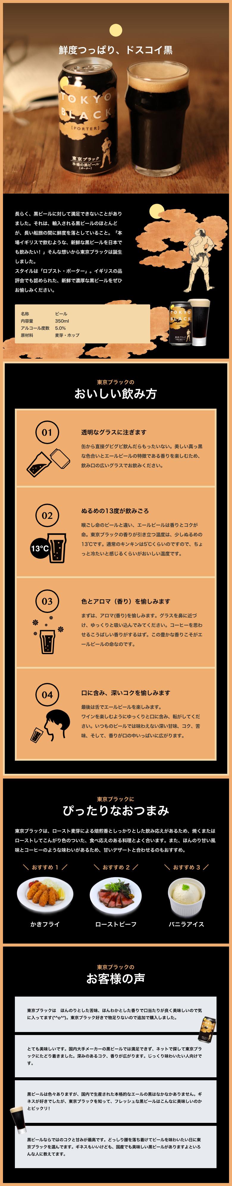 東京ブラック 商品説明