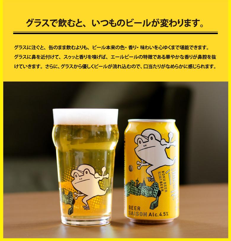 グラスで飲むと、いつものビールが変わります。