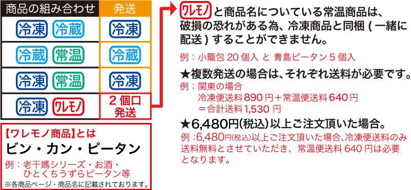 横浜中華街 耀盛號 ようせいごう 通信販売 冷凍 冷蔵 常温 組み合わせ一覧表