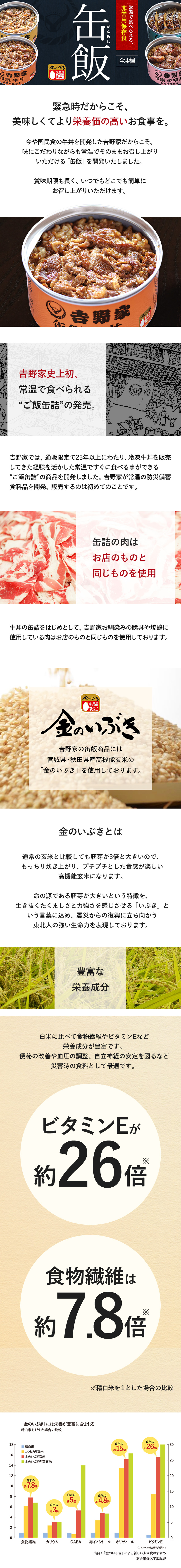 吉野家 缶飯牛丼6缶セット
