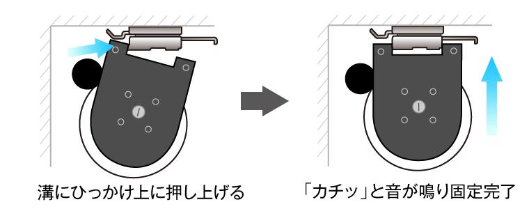 設置方法の図