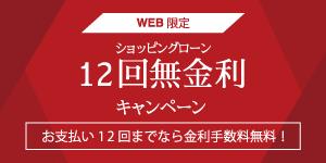 【WEB通販限定】12回無金利キャンペーン