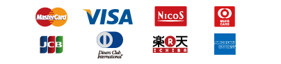 Mastercard VISA Nicos UFJcard Diners Cub Intervational JCB AMERICAN EXPRESS 楽天